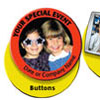 Photo Buttons Key chains and Stickers